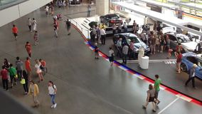 Interior of BMW WELT stock video footage