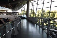 Interior of BMW Welt at Munich Stock Photos