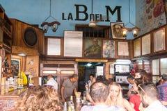 Interior Bodeguita del Medio in Havana Sinds zijn het openen in 194 Royalty-vrije Stock Afbeeldingen