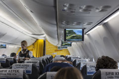 Interior of a boeing Royalty Free Stock Photography