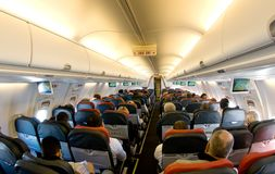 Interior of a boeing Royalty Free Stock Image