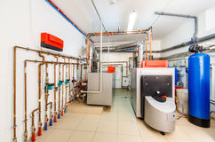 Interior boiler with a boiler on diesel fuel Royalty Free Stock Photo