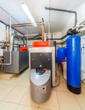 Interior boiler with a boiler on diesel fuel Royalty Free Stock Image