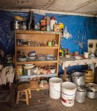 Interior of a bolivian house along the road to Oruro - Bolivia royalty free stock photography