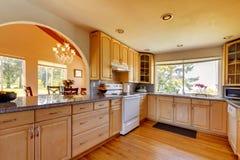 Interior bonito da cozinha foto de stock