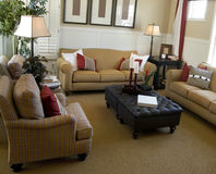 Interior bonito da sala de visitas fotografia de stock royalty free