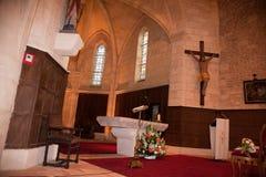 Interior bonito de uma igreja, seu hotel da escala fotos de stock royalty free