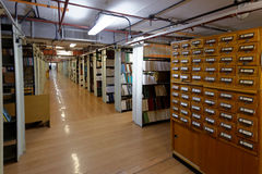 Interior of book depository Royalty Free Stock Images