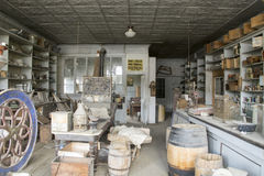 Interior of Boone Store and Warehouse, Bodie, California Royalty Free Stock Photo