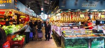 Interior of Boqueria market. Barcelona Royalty Free Stock Image
