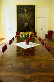 Interior of the Borch Palace - historic conference meeting room. Warsaw, Poland. Stock Images