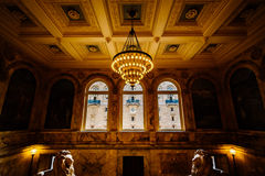 The interior of the Boston Public Library at Copley Square, in B stock image