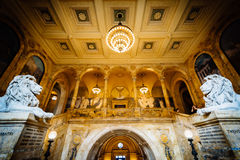 The interior of the Boston Public Library at Copley Square, in B. Ack Bay, Boston, Massachusetts Royalty Free Stock Photography
