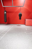 Interior of boxing hall in a modern fitness center Stock Photography