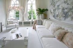 Interior branco Fotos de Stock Royalty Free