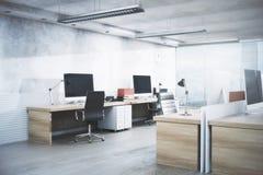 Interior branco do escritório Imagem de Stock