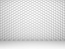 Interior branco do sumário 3d com teste padrão do favo de mel Fotografia de Stock Royalty Free