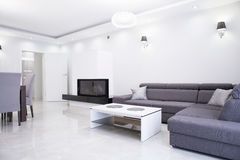 Interior branco e cinzento Foto de Stock