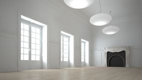 Interior branco grande ilustração do vetor