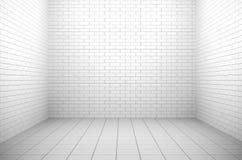Interior branco vazio ilustração royalty free
