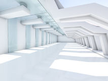 Interior branco vazio 3d Foto de Stock