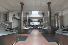 Interior of the brewery Royalty Free Stock Image
