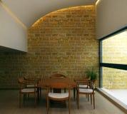 Interior.brick wall. Royalty Free Stock Image