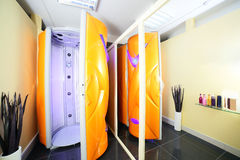 Interior of bright european solarium Royalty Free Stock Image
