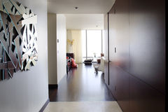 Interior of bright hallway home Stock Photo