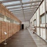 Interior of a bright modern empty building stock photo