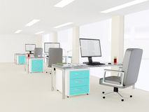 Interior of a bright modern minimalist office Royalty Free Stock Images
