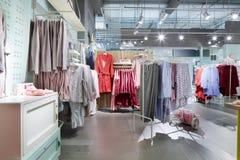 Interior of bright underwear shop Stock Photo