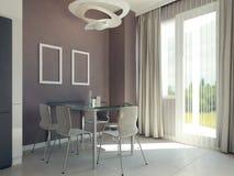 Interior brilhante da sala de jantar Imagens de Stock