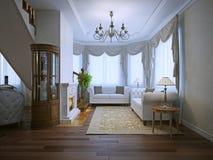 Interior brilhante da vida cara com chaminé Imagem de Stock Royalty Free