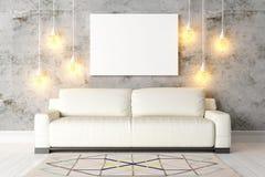 Interior brilhante moderno 3d rendem ilustração royalty free