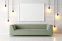 Interior brilhante moderno 3d rendem ilustração stock
