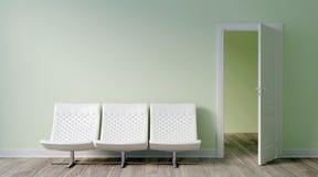 Interior brilhante moderno 3d rendem Foto de Stock Royalty Free