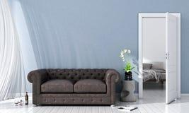 Interior brilhante moderno 3d rendem Fotografia de Stock Royalty Free