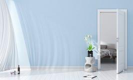 Interior brilhante moderno 3d rendem Imagens de Stock Royalty Free
