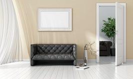 Interior brilhante moderno 3d rendem Imagens de Stock