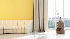 Interior brilhante moderno 3d rendem Foto de Stock