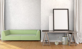 Interior brilhante moderno 3d rendem Ilustração do Vetor