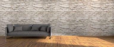Interior brilhante moderno 3d rendem Fotos de Stock