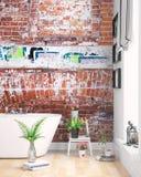 Interior brilhante moderno rendição 3d Imagem de Stock