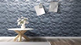 Interior brilhante moderno rendição 3d Imagem de Stock Royalty Free