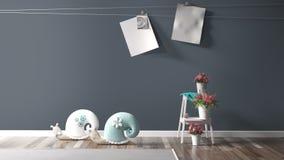 Interior brilhante moderno rendição 3d Fotografia de Stock
