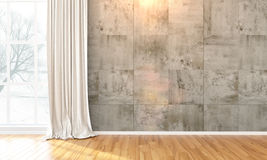 Interior brilhante vazio 3d rendem Ilustração do Vetor