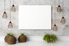 Interior brillante moderno 3d rinden Imágenes de archivo libres de regalías