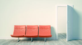 Interior brillante moderno 3d rinden Fotografía de archivo