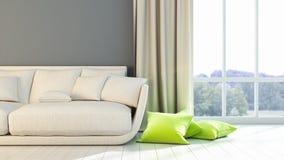 Interior brillante moderno 3d rinden Fotos de archivo